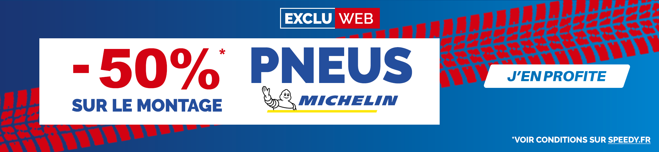 Promotion Speedy pneus Michelin montage